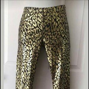 NWT Gianni Bini Black & Gold Legging XS